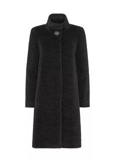 Cinzia Rocca Textured Alpaca Wool Coat