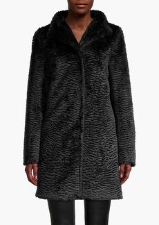 Cinzia Rocca Textured Faux Fur Coat