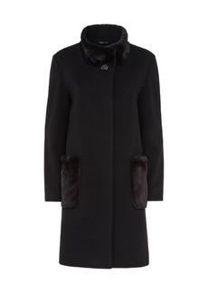 Cinzia Rocca Trim Virgin Wool-Blend Coat