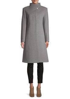 Cinzia Rocca Virgin Wool & Cashmere Stand-Collar Coat