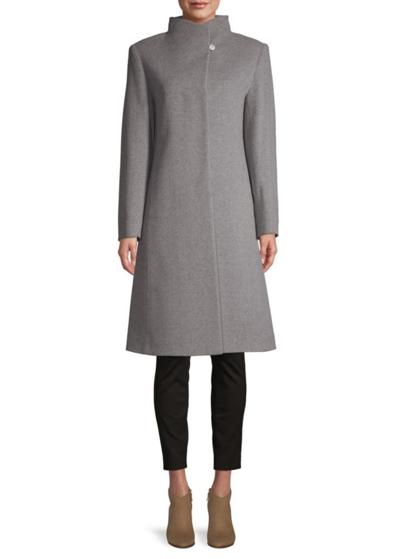 Cinzia Rocca Virgin Wool & Cashmere Stand-Collar Coat
