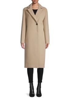 Cinzia Rocca Virgin-Wool Single-Button Coat