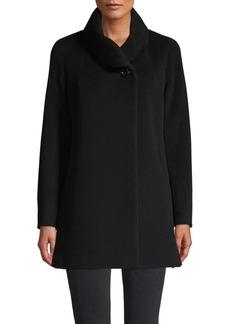 Cinzia Rocca Wool-Blend Cowl-Neck Jacket