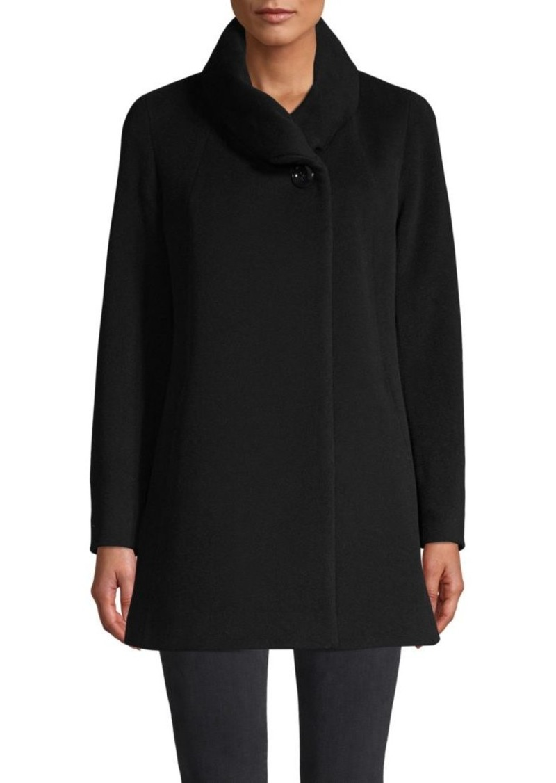 Cinzia Rocca Wool-Blend Cowl-Neck Jacket
