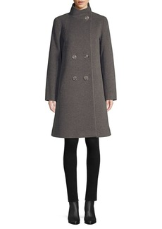 Cinzia Rocca Wool-Blend Double-Breasted Walking Coat