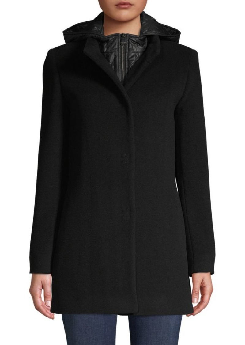 Cinzia Rocca Wool-Blend Hooded Jacket