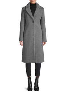 Cinzia Rocca Wool-Blend Single Button Coat