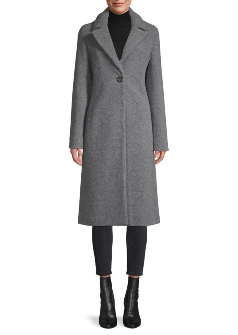 Cinzia Rocca Wool-Blend Single Button Coat