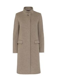 Cinzia Rocca Wool-Blend Stand Collar Coat