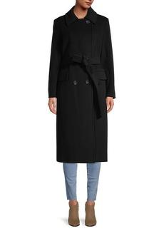 Cinzia Rocca Wool-Blend Wrap Coat