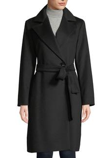 Cinzia Rocca Wool Wrap Coat with Tie Belt