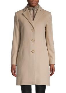 Cinzia Rocca Zip-Insert Wool-Blend Coat