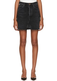 Citizens of Humanity Black Astrid Denim Miniskirt
