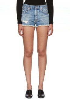 Citizens of Humanity Blue Danielle Cut-Off Shorts