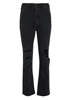Citizens of Humanity Charlotte Distressed Straight-Leg Jeans