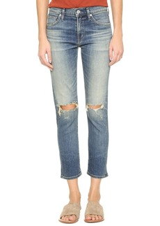 Citizens of Humanity Agnes Crop Slim Straight Jeans