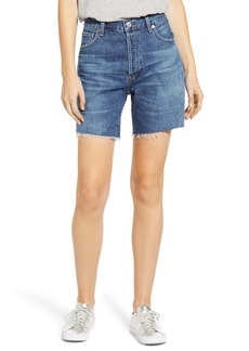Citizens of Humanity Bailey Loose Fit Shorts (Blue Rose)