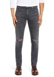 Citizens of Humanity Bowery Slim Fit Ripped Jeans (Dark Sea)