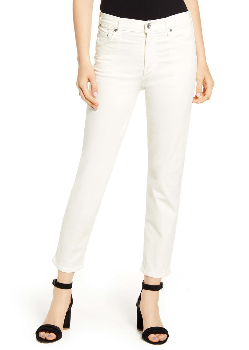 Citizens of Humanity Cara Ankle Cigarette Jeans (Sculpt Light Cream)