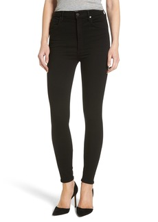 Citizens of Humanity Chrissy High Waist Skinny Jeans (All Black)