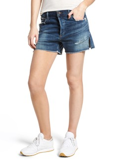 Citizens of Humanity Corey Distressed Slouchy Denim Shorts (Ombre)