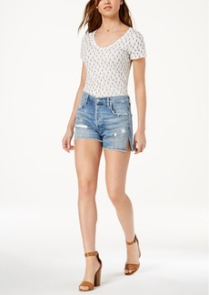 Citizens of Humanity Corey Ripped Denim Shorts