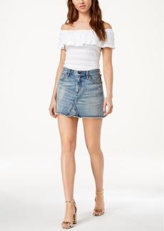 Citizens of Humanity Cotton Cutoff Denim Skirt