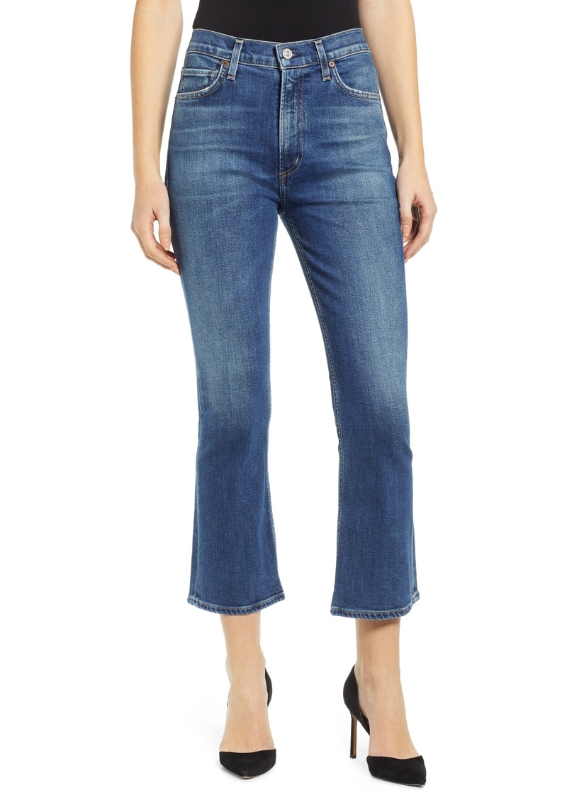 Citizens of Humanity Demy High Waist Crop Flare Jeans (Clearwater)