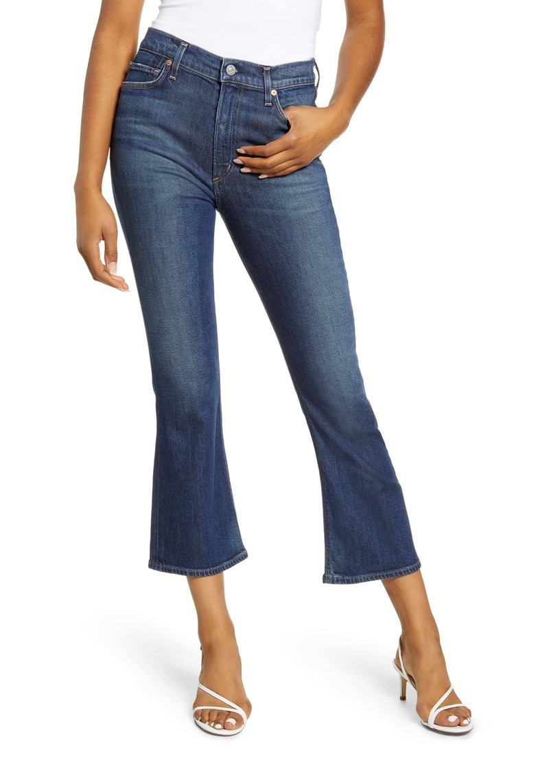Citizens of Humanity Demy High Waist Crop Flare Jeans (Gleams)