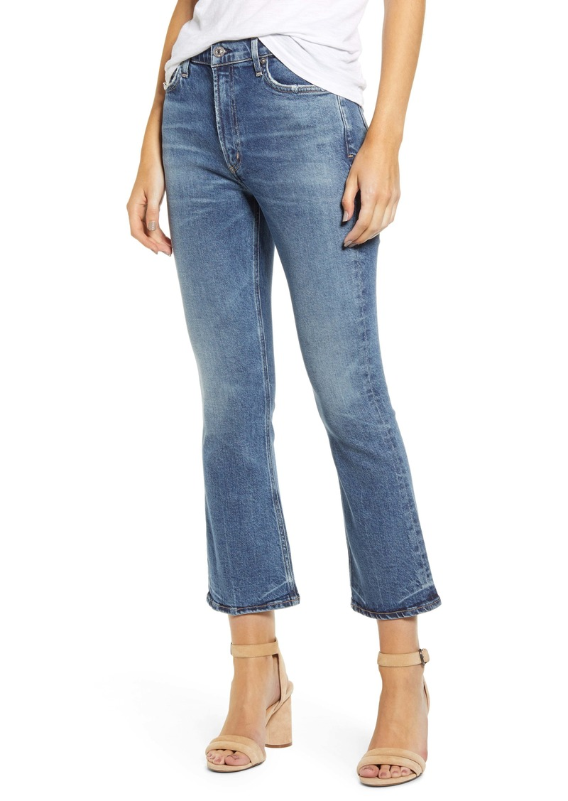 Citizens of Humanity Demy High Waist Crop Flare Jeans (Moments)
