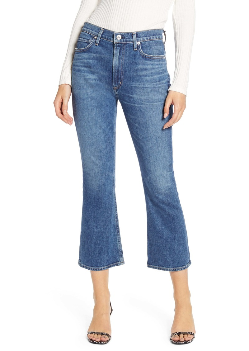 Citizens of Humanity Demy High Waist Crop Flare Jeans (Solo)