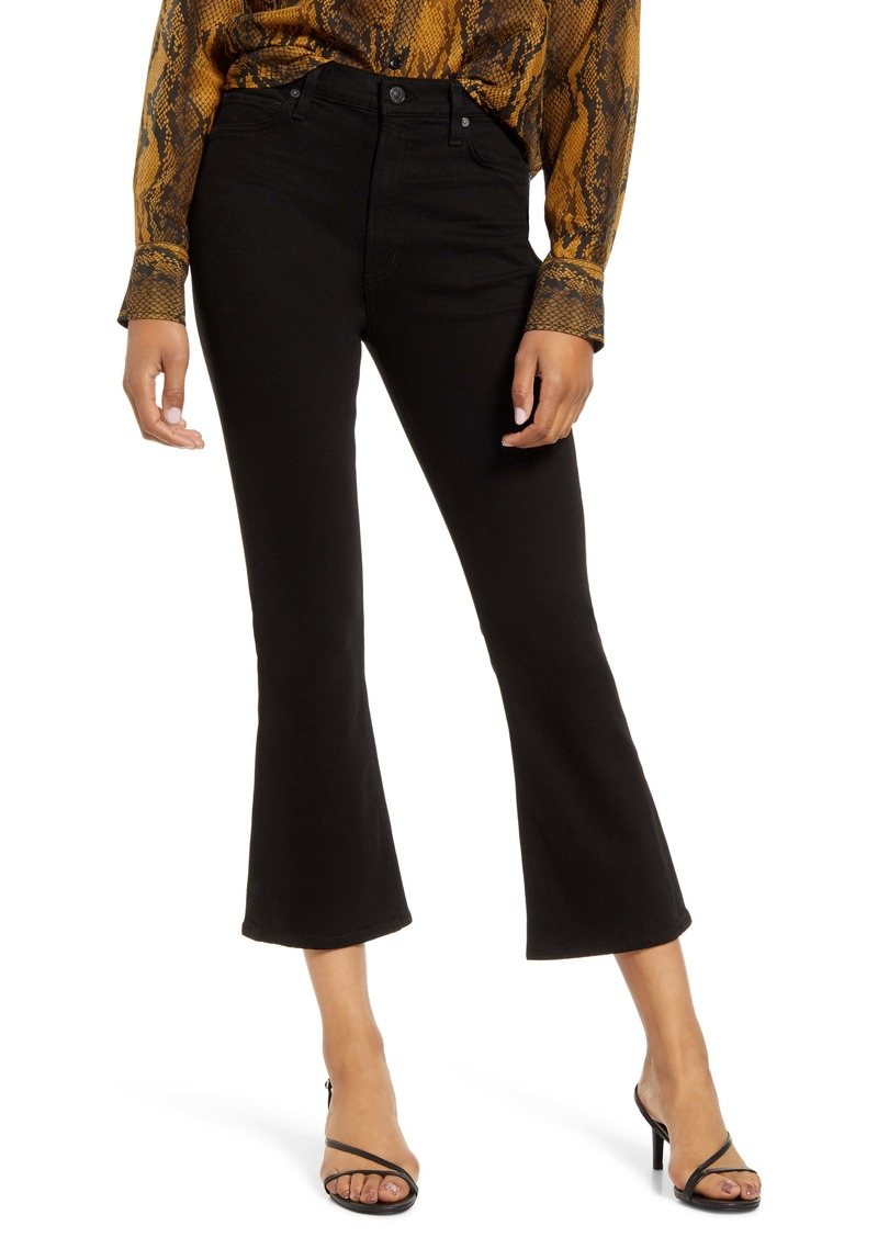 Citizens of Humanity Demy High Waist Crop Flare Jeans (Sueded Black)