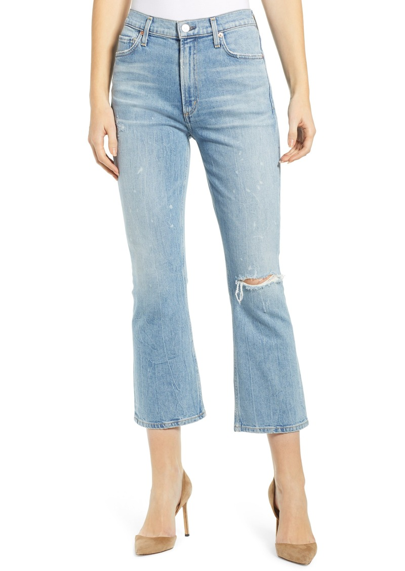 Citizens of Humanity Demy Ripped High Waist Crop Flare Jeans (Stargazer)