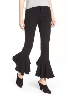 Citizens of Humanity Drew Flounce Hem Crop Jeans (Soiree Black)