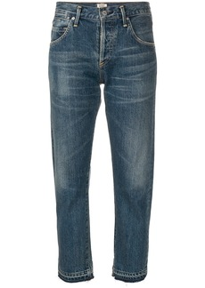 Citizens Of Humanity Emerson boyfriend cropped jeans - Blue