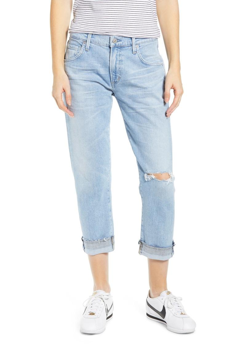 Citizens of Humanity Emerson Crop Slim Boyfriend Jeans (Skylark)