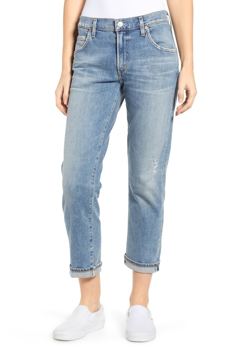 Citizens of Humanity Emerson Crop Slim Fit Boyfriend Jeans (Marina)