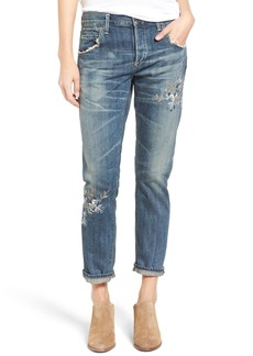 Citizens of Humanity Emerson Embroidered Slim Boyfriend Jeans (Junction Blossom)