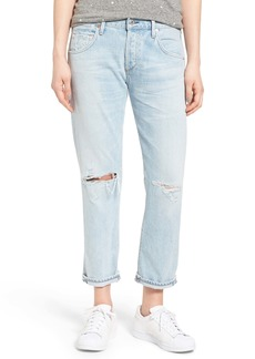Citizens of Humanity Emerson High Waist Ripped Boyfriend Jeans (Distressed Rock)