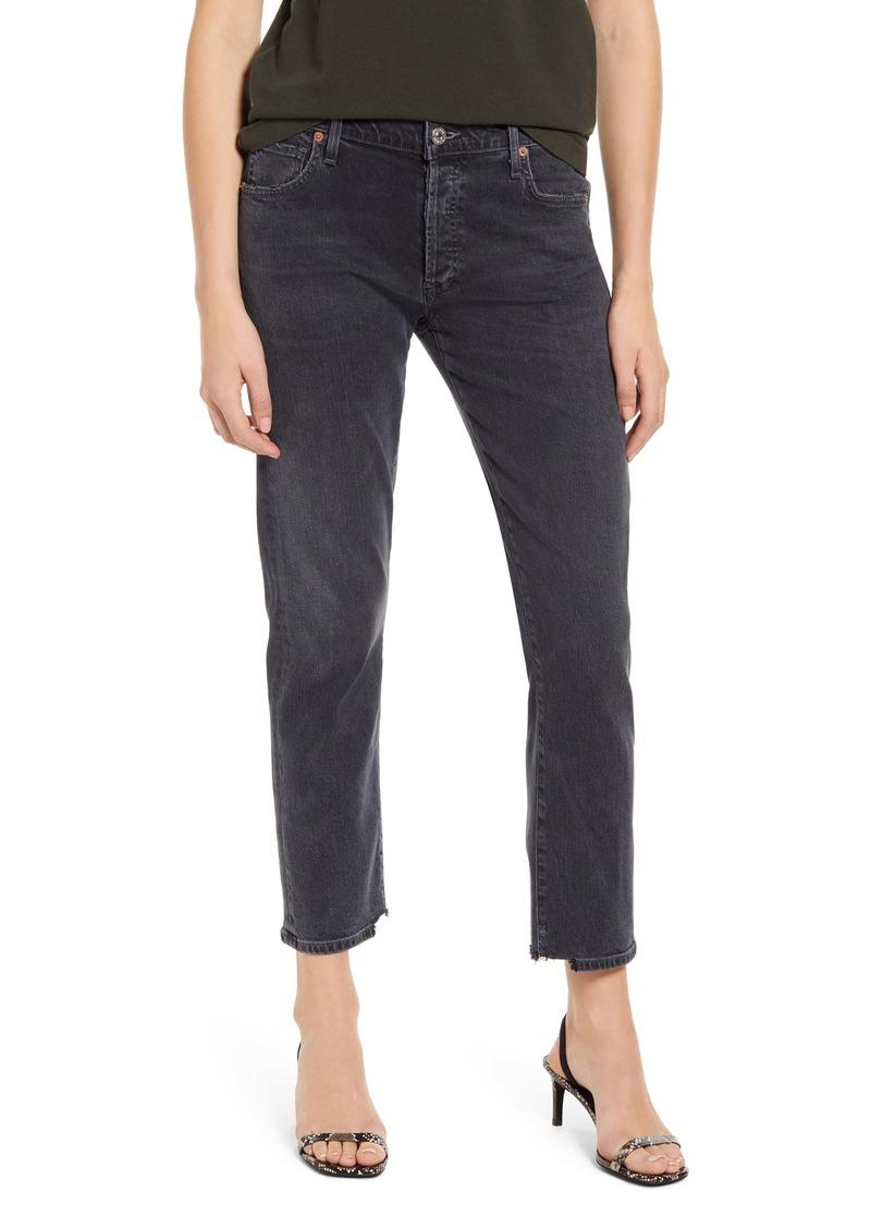 Citizens of Humanity Emerson High Waist Slim Boyfriend Jeans (Monochrome)