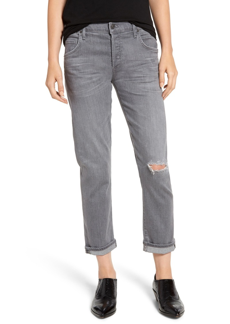 Citizens of Humanity Emerson Ripped Slim Boyfriend Jeans (Distressed Statuette)