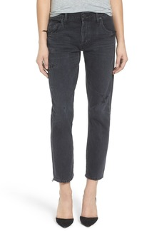 Citizens of Humanity Emerson Slim Boyfriend Jeans (Black Hawk)