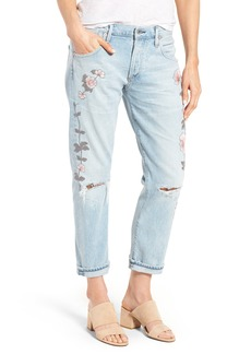 Citizens of Humanity Emerson Slim Boyfriend Jeans (Distressed Rock on Roses)