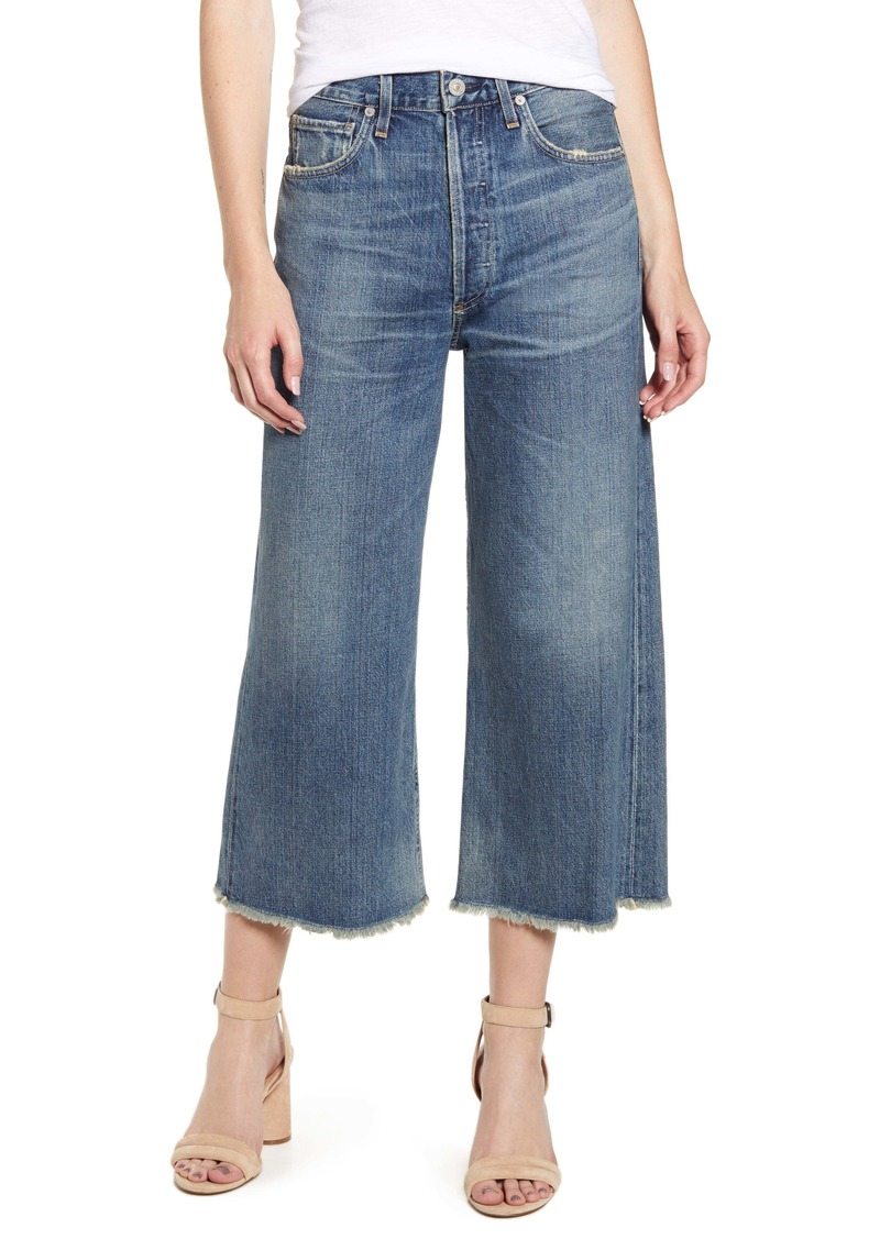 Citizens of Humanity Emma High Waist Crop Wide Leg Jeans (Gemini)
