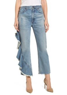 Citizens of Humanity Estrella Side Ruffle High Waist Ankle Jeans (Caliente)