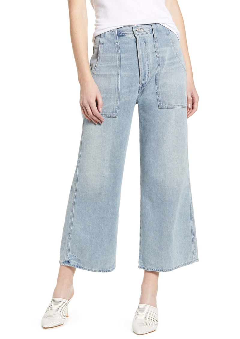 Citizens of Humanity Eva Utility Crop Wide Leg Jeans (Rove)