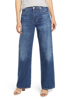 Citizens of Humanity Flavia High Waist Wide Leg Jeans (Blue Rose)
