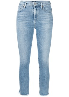 Citizens Of Humanity frayed cropped skinny jeans - Blue