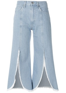 Citizens Of Humanity front slit cropped jeans - Blue