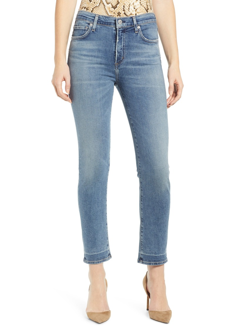 Citizens of Humanity Harlow High Waist Ankle Slim Jeans (Capeside)
